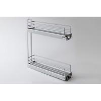 Карго Classic 150 мм 2-уровневая, сталь, серебряный, Hafele