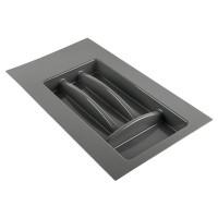 Лоток для столовых приборов антрацит, в секцию 300 мм Hafele