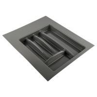 Лоток для столовых приборов антрацит, в секцию 400-450 мм Hafele
