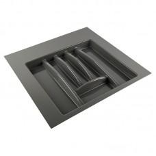 Лоток для столовых приборов антрацит, в секцию 500-550 мм Hafele