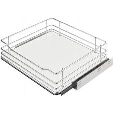 Кухонная корзина с доводчиком полного выдвижения внутренняя белый для корпуса 600 мм
