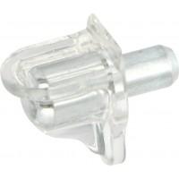 Полкодержатель для отверстия d = 5 мм прозрачный HAFELE