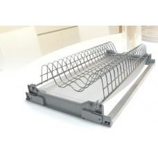 Решётка для посуды сталь, покрытие хром, в секцию 450мм, комплект